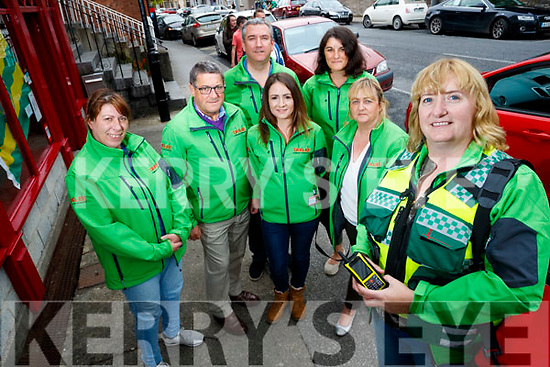 Tralee First Responders celebrate one year, Barbara Kavanah, Jimmy Murphy, Con O'Sullivan, Michelle Power, Camelia Draghici, Mary Dunworth and Julie O'Sullivan.