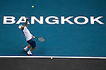 BANGKOK, THAILAND - SEPTEMBER 30:  Fernando Verdasco of Spain serves against Benjamin Becker of Germany during the Day 6 of the PTT Thailand Open at Impact Arena on September 30, 2010 in Bangkok, Thailand. Photo by Victor Fraile / The Power of Sport Images