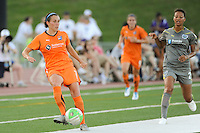 Meghan Schnur (7) of Sky Blue FC passes the ball. The Philadelphia Independence defeated Sky Blue FC 2-1 during a Women's Professional Soccer (WPS) match at John A. Farrell Stadium in West Chester, PA, on June 6, 2010.