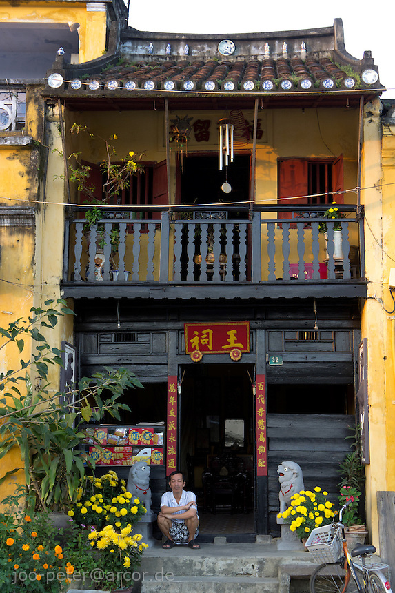 traditional house in city Hoi An, Vietnam
