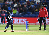 Jun 6th, The SSE SWALEC, Cardiff, Wales; ICC Champions Trophy; England versus New Zealand;  Adil Rashid of England appeals for lbw
