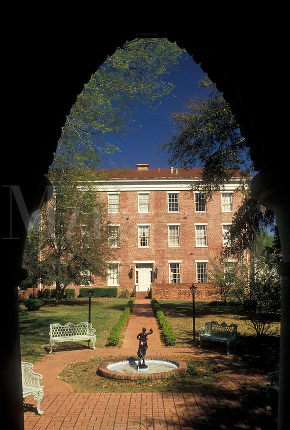 Selma, Alabama, AL, Joseph T. Smitherman Historic Building, a 19th-century Greek Revival structure, in Selma in the spring.