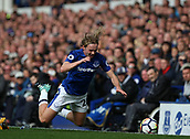 9th September 2017, Goodison Park, Liverpool, England; EPL Premier League Football, Everton versus Tottenham; Tom Davies of Everton is tripped by Toby Alderweireld of Tottenham
