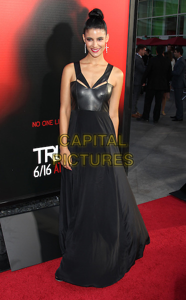 Jessica Clark<br /> &quot;True Blood&quot; Season 6 Los Angeles Premiere held at The Cinerama Dome, Hollywood, California, USA.<br /> June 11th, 2013<br /> full length dress leather hair up bun <br /> CAP/ADM/RE<br /> &copy;Russ Elliot/AdMedia/Capital Pictures