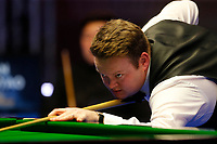 29th February 2020; Waterfront, Southport, Merseyside, England; World Snooker Championship, Coral Players Championship; Shaun Murphy (ENG) at the table during tonight's semi final match versus Yan Bingtao (CHN)