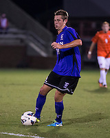 The number 24 ranked Furman Paladins took on the number 20 ranked Clemson Tigers in an inter-conference game at Clemson's Riggs Field.  Furman defeated Clemson 2-1.  Kevin Pahl (14)
