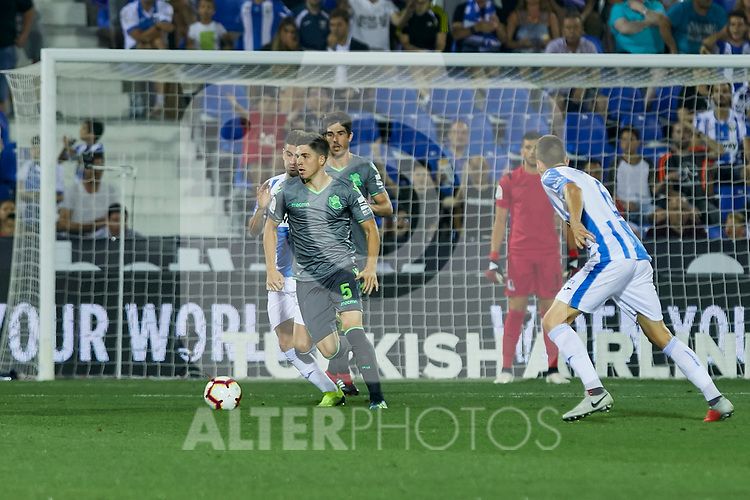 Real Sociedad's Igor Zubeldia during La Liga match. August 24, 2018. (ALTERPHOTOS/A. Perez Meca)