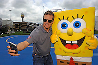 Sponge Bob and driver JJ Yeley.