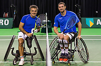 Rotterdam, The Netherlands, 16 Februari 2019, ABNAMRO World Tennis Tournament, Ahoy, Wheelchair singles, Final, Stephane Houdet (FRA) - Joachim Gerard (BEL),<br /> Photo: www.tennisimages.com/Henk Koster