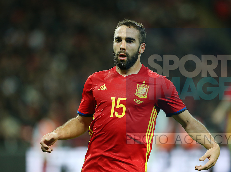 Spain's Dani Carvajal in action during the friendly match at Wembley Stadium, London. Picture date November 15th, 2016 Pic David Klein/Sportimage