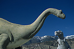 Roadside attraction, the worlds largest dinosaurs, Cabazon, California, west of Palm Springs, California State USA.