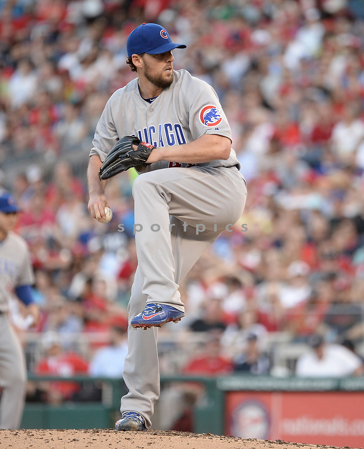 Chicago Cubs John Lackey (41) during a game against the Washington Nationals on June 14, 2016 at Nationals Park in Washington, DC. The Cubs beat the Nationals 4-3.