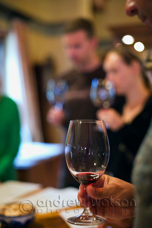 Wine tasting at Voyager Estate winery.  Margaret River, Western Australia, AUSTRALIA.
