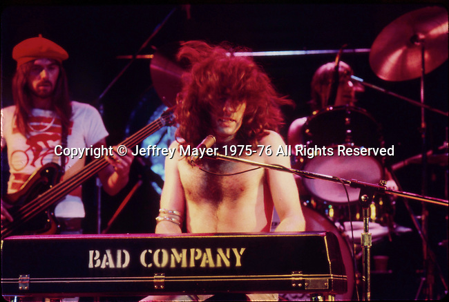 LOS ANGELES, CA- MAY 21: Bad Company in concert Circa 1970's in Los Angeles, California.