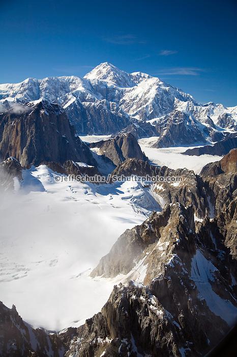 Aerial View Of Mt.Mckinley & Alaska Range Denali National Park Interior Alaska Summer