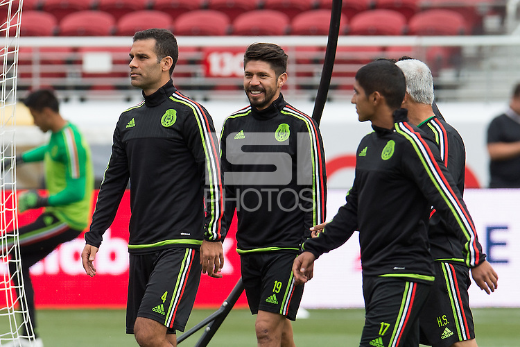 Press Conference of National Mexican Soccer Team, at Levis Stadium in Santa Clara, California. Copa America Centenario USA 2016. <br /> <br /> Conferencia de Prensa  de la Seleccion de Mexico, en el Estadio Levis en Santa Clara California. Copa America Centenario 2016, en la foto: (i-d) Rafael Marquez, Oribe Peralta y Candido Ramirez<br /> <br /> --- 16/06/2016/MEXSPORT/JORGE MARTINEZ