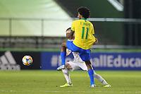 29th October 2019; Bezerrao Stadium, Brasilia, Distrito Federal, Brazil; FIFA U-17 World Cup Brazil 2019, Brazil versus New Zealand; Talles Magno of Brazil