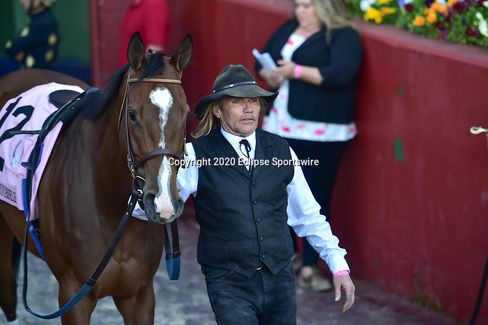 April 18, 2020: Go Google Yourself (12) with jockey Brian Joseph Hernandez, Jr aboard during the Apple Blossom Handicap at Oaklawn Racing Casino Resort in Hot Springs, Arkansas on April 18, 2020. Ted McClenning/Eclipse Sportswire/CSM