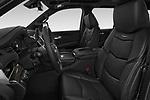 Front seat view of 2019 Cadillac Escalade Platinum 5 Door SUV Front Seat  car photos