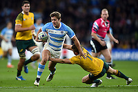 Santiago Cordero of Argentina takes on the Australia defence. Rugby World Cup Semi Final between Argentina v Australia on October 25, 2015 at Twickenham Stadium in London, England. Photo by: Patrick Khachfe / Onside Images