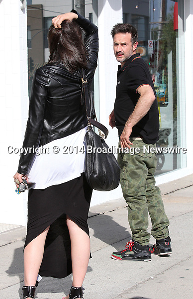Pictured: David Arquette, Christina McLarty<br /> Mandatory Credit &copy; Patron/Broadimage<br /> ****EXCLUSIVE****<br /> David Arquette and pregnant girlfriend Christina McLarty out and about in West Hollywood<br /> <br /> 3/28/14, West Hollywood, California, United States of America<br /> <br /> Broadimage Newswire<br /> Los Angeles 1+  (310) 301-1027<br /> New York      1+  (646) 827-9134<br /> sales@broadimage.com<br /> http://www.broadimage.com