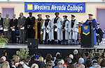 President Chet Burton speaks at the 45th annual Western Nevada College Commencement ceremony in Carson City, Nev., on Monday, May 23, 2016. A record 556 graduates received 598 degrees.<br />