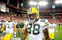 Aug. 28, 2009; Glendale, AZ, USA; Green Bay Packers tight end (88) Jermichael Finley against the Arizona Cardinals during a preseason game at University of Phoenix Stadium. Mandatory Credit: Mark J. Rebilas-