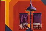 Expo 1986 colorful lamp Vancouver British Columbia Canada.