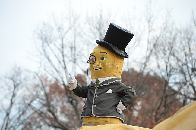 www.acepixs.com<br /> <br /> November 24 2016, New York City<br /> <br /> Mr Peanut balloon at the 90th Annual Macy's Thanksgiving Day Parade on November 24, 2016 in New York City. <br /> <br /> By Line: Kristin Callahan/ACE Pictures<br /> <br /> <br /> ACE Pictures Inc<br /> Tel: 6467670430<br /> Email: info@acepixs.com<br /> www.acepixs.com