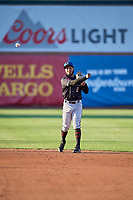 Cesar Garcia (8) of the Missoula Osprey during the game against the Ogden Raptors at Lindquist Field on August 12, 2019 in Ogden, Utah. The Raptors defeated the Osprey 4-3. (Stephen Smith/Four Seam Images)