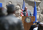 Keynote Speaker Dr. Tyrus Cobb speaks the 2016 Flag Day &amp; Army Birthday ceremony at the Capitol in Carson City, Nev., on Tuesday, June 14, 2016.<br />