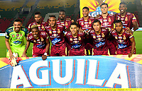 IBAGUE - COLOMBIA, 20-02-2019: Los jugadores de Deportes Tolima, posan para una foto antes de partido aplazado entre Deportes Tolima y Atlético Junior de la fecha 1 de la Liga Águila I 2019, jugado en el estadio Manuel Murillo Toro de la ciudad de Ibague. / Players of Deportes Tolima, pose for a photo prior a posponed match between Deportes Tolima and Atletico Junior of the 1st date for the Aguila League I 2019, played at Manuel Murillo Toro stadium in Ibague city. Photo: VizzorImage / Juan Carlos Escobar / Cont.