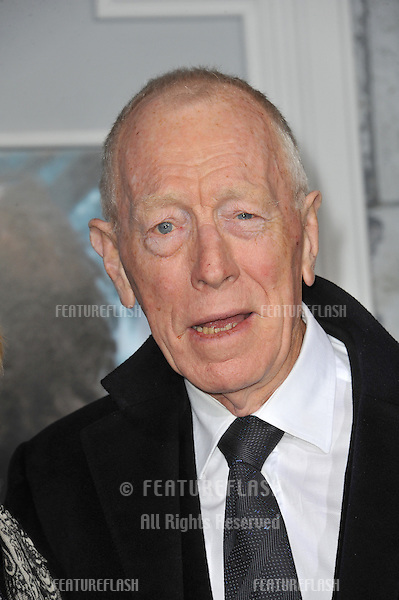 "Max von Sydow at the Los Angeles premiere of ""Sherlock Holmes: A Game of Shadows"" at the Village Theatre, Westwood..December 6, 2011  Los Angeles, CA.Picture: Paul Smith / Featureflash"