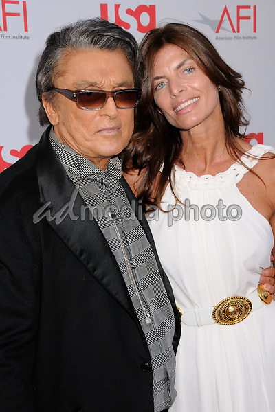12 June 2008 - Hollywood, California - Robert Evans and guest. 36th Annual AFI Life Achievement Award at the Kodak Theatre. Photo Credit: Byron Purvis/AdMedia