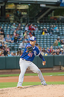 David Huff (24) relief pitcher of the Oklahoma City Dodgers   throws in action against the Salt Lake Bees in Pacific Coast League action at Smith's Ballpark on May 25, 2015 in Salt Lake City, Utah.  (Stephen Smith/Four Seam Images)
