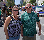 Jessica and Marcus during the Great Eldorado BBQ, Brews and Blues Festival in Reno, Nevada on Saturday, June 16, 2018.