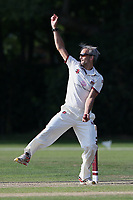 Ian Belchamber in bowling action for Brentwood during Brentwood CC vs Wanstead and Snaresbrook CC, Essex Cricket League Cricket at The Old County Ground on 12th September 2020