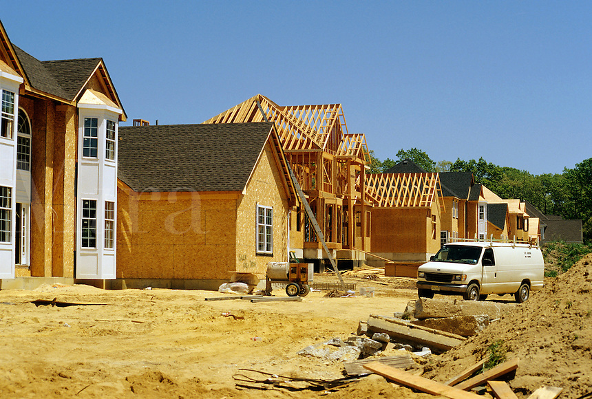Tom's River, New Jersey.Home building proceeds at a fast pace in Ocean County, one of the fastest growing counties in the US