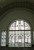 Otto Wagner: Church AM Steinhof, Vienna. South side--window by Kolo Moser.