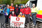 Members of Kerry Mountain rescue at the emernency exercise drill at Torc Killarney on Saturday Lorcan McDonnell, Lorraine Sheehan, back row: Marguerite Brosnan, Donal O'brien, Cathal Cudden, John Cronin and John O'Loughlin