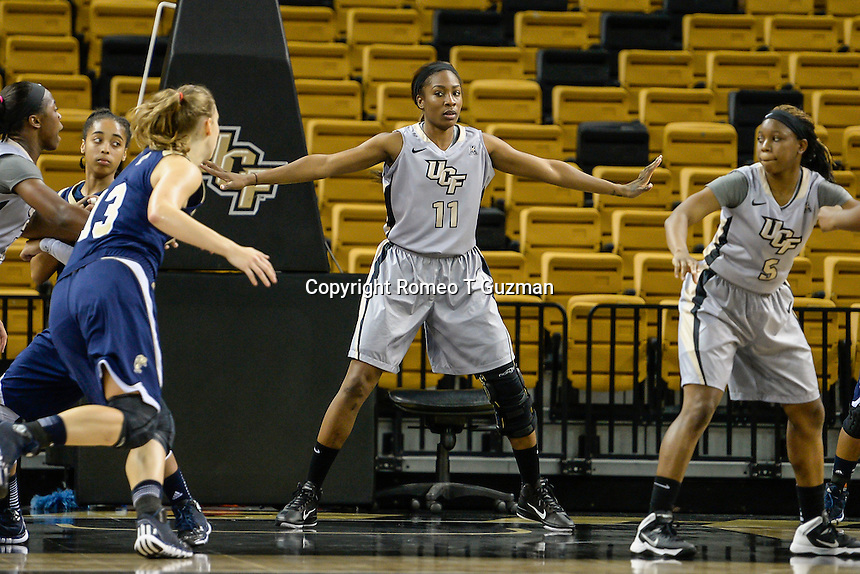 November 15, 2013 - Orlando, FL, U.S: UCF forward/center Yanique Gordan (11) during second half women's NCAA basketball game action between the FIU Panthers and the UCF Knights. UCF defeated FIU 71-66 at CFE Arena in Orlando, Fl.