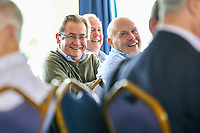 Members chat in the members bar during the Greene King IPA Championship match between London Scottish Football Club and Doncaster Knights at Richmond Athletic Ground, Richmond, United Kingdom on 30 September 2017. Photo by Jason Brown / PRiME Media Images.