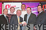 LAUNCH: Enjoying the launch of www.plumgaming.com with a casino night in the Killarney Plaza Hotel last Saturday night were, l-r: Michael Murphy (Director), Colm Cooper, Richard Hartley (Managing Director), Kieran Donaghy, Seamus Moynihan and Michael Cohen (Chief Executive Officer)..