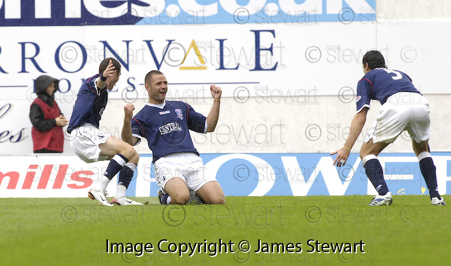 11/08/2007       Copyright Pic: James Stewart.File Name : sct_jspa03_falkirk_v_celtic.MICHAEL HIGDON CELEBRATE AFTER HE SCORES FALKIRK'S FIRST....James Stewart Photo Agency 19 Carronlea Drive, Falkirk. FK2 8DN      Vat Reg No. 607 6932 25.Office     : +44 (0)1324 570906     .Mobile   : +44 (0)7721 416997.Fax         : +44 (0)1324 570906.E-mail  :  jim@jspa.co.uk.If you require further information then contact Jim Stewart on any of the numbers above........