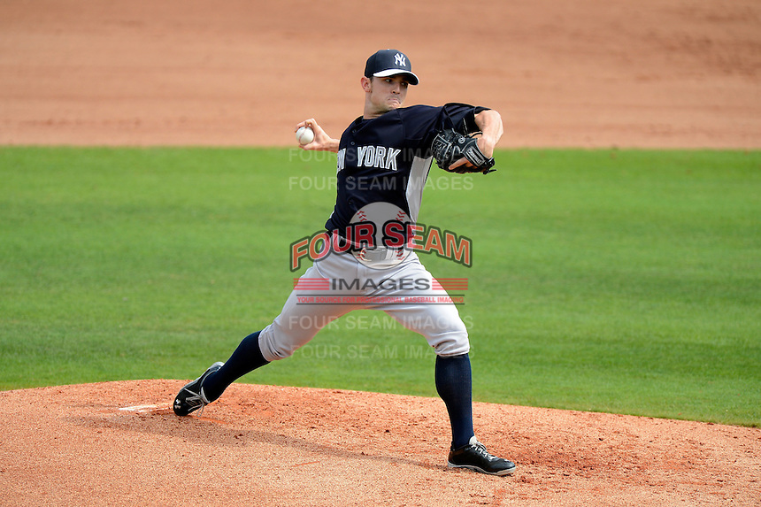 New York Yankees pitcher David Robertson #30 during a Spring Training game against the Philadelphia Phillies at Bright House Field on February 26, 2013 in Clearwater, Florida.  Philadelphia defeated New York 4-3.  (Mike Janes/Four Seam Images)