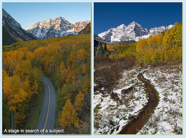 The top half of each image could be photographed by just about any visitor. <br />