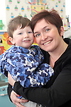 Pamela (teacher) and Ryan Brennan at the Pyjama Day in Mornington Pre-School in aid of the Haiti earthquake victims...Photo NEWSFILE/Jenny Matthews.(Photo credit should read Jenny Matthews/NEWSFILE)....This Picture has been sent you under the condtions enclosed by:.Newsfile Ltd..The Studio,.Millmount Abbey,.Drogheda,.Co Meath..Ireland..Tel: +353(0)41-9871240.Fax: +353(0)41-9871260.GSM: +353(0)86-2500958.email: pictures@newsfile.ie.www.newsfile.ie.FTP: 193.120.102.198.