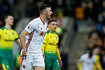 Enda Stevens of Sheffield United celebrates scoring his sides first goal of the game during the Premier League match at Carrow Road, Norwich. Picture date: 8th December 2019. Picture credit should read: James Wilson/Sportimage
