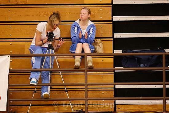 Woods Cross vs. Sky View high school girls basketball, Wednesday, December 16, 2009 at Woods Cross. fans