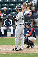 June 1, 2008: Salt Lake Bees' Adam Pavkovich at-bat against the Tacoma Rainiers at Cheney Stadium in Tacoma, Washington.